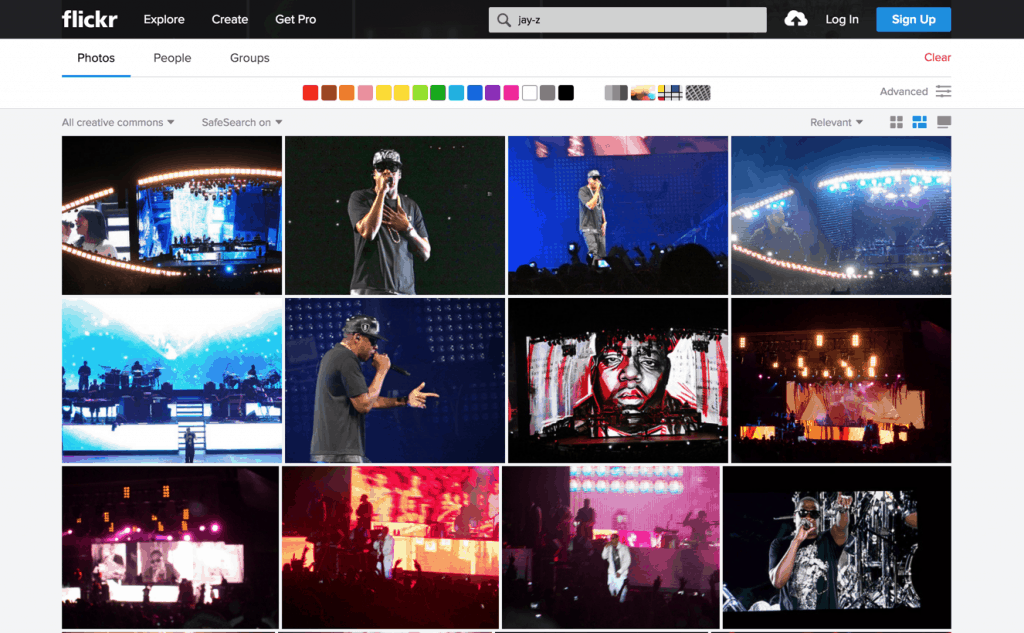 Flickr License Search